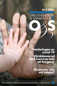 Omslag Organisation & Samhälle Nummer 2, 2020